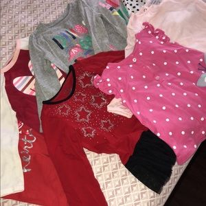 Other - 6 Long sleeve tops for baby girl